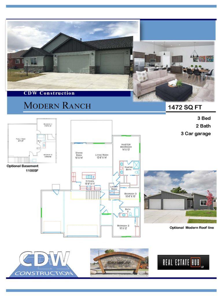 modern ranch custom home