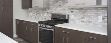 Finding quality cabinets at a bargain prices allows a larger allowance for  high end counter tops.