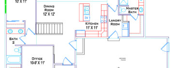 Johns Ranch floor plans :: Main with Basement