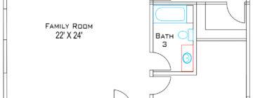 Modern Ranch floor plans :: Basement